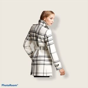 Burberry Addleton check single breasted coat
